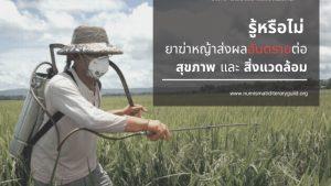 รู้หรือไม่ ยาฆ่าหญ้าอันตรายต่อสุขภาพและสิ่งแวดล้อม 01